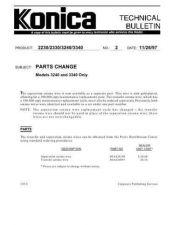 Buy Konica 02 PARTS CHANGE Service Schematics by download #135815