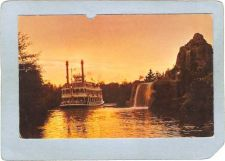 Buy CA Anaheim Amusement Park Postcard Disneyland Mark Twain At Dusk top_box3~230
