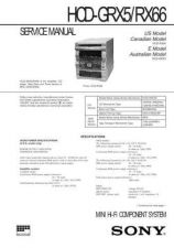 Buy SONY HCD-GRX5RX66 Service Manual by download #166966