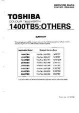 Buy Toshiba 2100RBG SUP Manual by download #171557