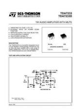 Buy MODEL TDA7233 Service Information by download #124752