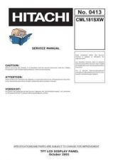 Buy HITACHI No 0413E Service Data by download #150983
