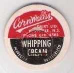 Buy CAN Kentville Milk Bottle Cap Name/Subject: Cornwallis Dairy LTD. Whipping~48