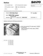 Buy Sanyo DVD7000(SS5810165-03,02,01) Manual by download #174154