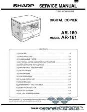 Buy Sharp 112 AR-161 SM Manual.pdf_page_1 by download #177667