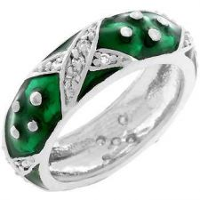 Buy Boogie Down Forest Green Enamel Ring (size: 09)