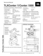 Buy INFINITY TLXCSS-SP1000 CENTER (CENTER 1000) TS Service Manual by download #15169
