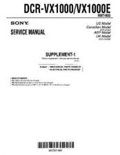 Buy Sony MANUAL SUPP Service Manual by download Mauritron #194072