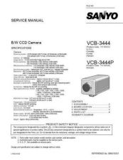 Buy Sanyo Service Manual For VCB-3444P Manual by download #176076