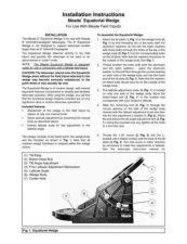Buy Meade eq wedge Instruction Manual by download Mauritron #194741