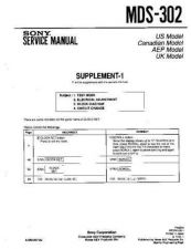 Buy SONY MDS-302_supp1 Service Manual by download Mauritron #194073