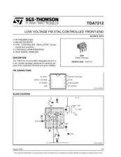 Buy MODEL TDA7212 Service Information by download #124747