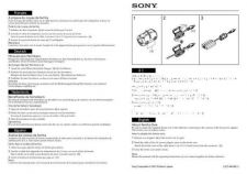 Buy SONY DSC-F707 ADENDO OPERATING GUIDE by download #166736
