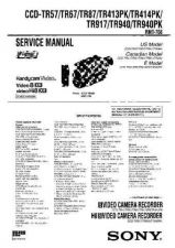 Buy SONY CCD-TR91 Service Manual by download #166470