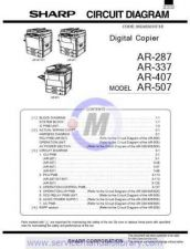 Buy Sharp AR287-337-407-507 SM GB(1) Manual by download #179431