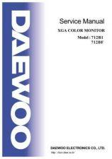 Buy DAEWOO 712B1SVC Manual by download #183473