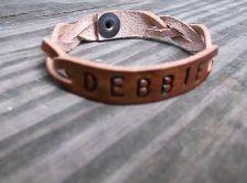 Buy Mystery Braid Leather cuff with Custom Name Bracelet Bracelets
