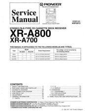 Buy PIONEER XRA800 XRA700 ARP2972 by download #127630