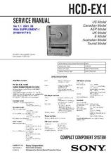 Buy SONY HCD-EX1 Service Manual by download #166946