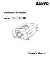 Buy Sanyo PLCXF30NL Manual by download #174873