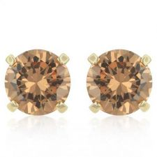Buy Simple Champagne Cz Studs