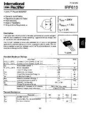 Buy SEMICONDUCTOR DATA IRF610J Manual by download Mauritron #188319