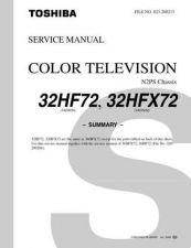 Buy TOSHIBA 32HF72 32HFX72 SUMMARY Service Schematics by download #159886