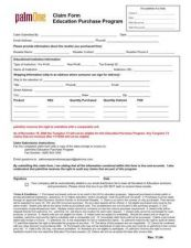 Buy PALM CLAIM FORM 11 2004 by download #127070