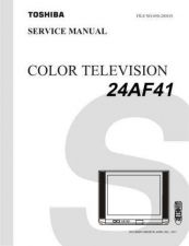 Buy TOSHIBA 24AF41 Service Manual by download #167360