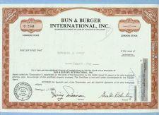 Buy DE na Stock Certificate Company: Bun & Burger International, Inc. ~16
