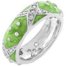 Buy Light Green Boogie Down Enamel Ring (size: 10)