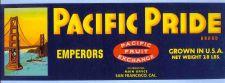 Buy CA San Francisco Fruit Crate Label Pacific Pride Brand Emperors Pacific Fr~20