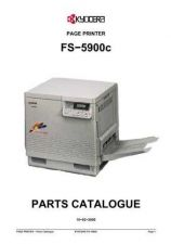 Buy KYOCERA FS-5900C PARTS MANUAL by download #148436