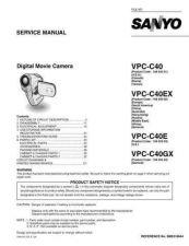 Buy Sanyo VPC-C1X Correction Manual by download #177544