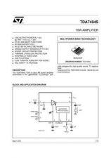 Buy MODEL TDA7494S Service Information by download #124805