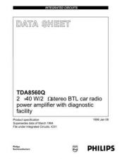 Buy MODEL TDA8560Q Service Information by download #124863