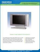Buy DAEWOO DSL15D1 SPECS Manual by download #184002