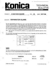 Buy Konica 45 SEPARATION CLAWS Service Schematics by download #136194