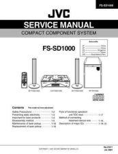 Buy JVC FS-SD1000 Service Schematics by download #155512