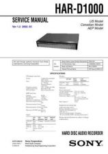 Buy SONY HAR-D1000 Service Manual by download #166921
