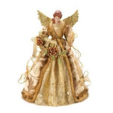 Buy Beautiful Golden Christmas Angel Doll Tree Topper