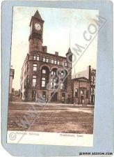 Buy CT Middletown Postcard Municipal Building Street Scene w/Trolley Tracks ct~1431