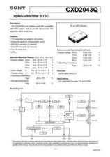 Buy MODEL CXD2043 Service Information by download #124056