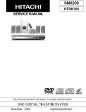Buy Hitachi HITACHI-HTDK160 HOME THEATER Manual by download #170999