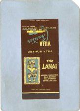 Buy CA San Mateo Matchcover Tiki The Lanai Villa Square Villa Chartier~54