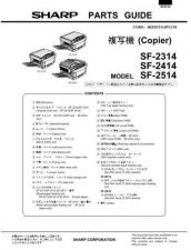 Buy Sharp SF2314-2414-2514 PG GB-JP(1) Service Manual by download #134389