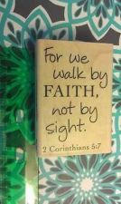 Buy Stampabilities wood mounted walk by faith rubber stamp New