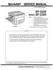 Buy Sharp SF2220-2320 Service Manual(1) by download #134385