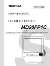 Buy TOSHIBA MD20FP1CSUM Service Schematics by download #160189