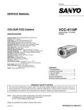 Buy Sanyo Service Manual For VCC-4110P Manual by download #176081